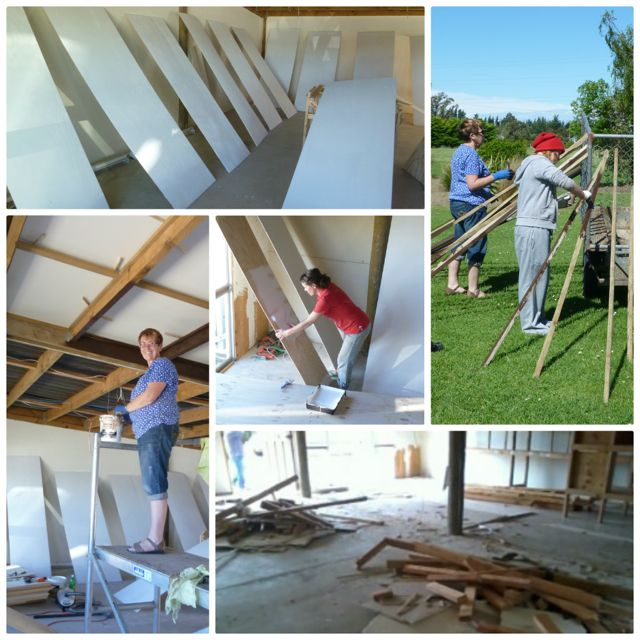 Pictures of the rennovations of the new Yoga studio
